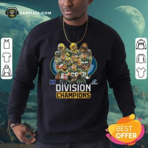 Bay Packers 2020 Nfc North Playoffs Division Champions Signatures Sweatshirt - Design By Earstees.com