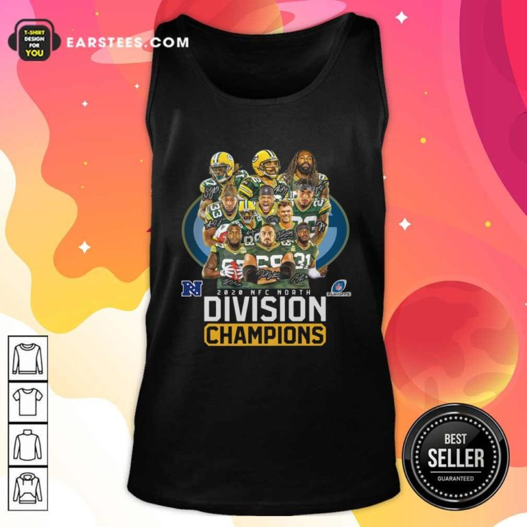 Bay Packers 2020 Nfc North Playoffs Division Champions Signatures Tank Top - Design By Earstees.com