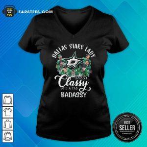 Dallas Stars Lady Sassy Classy And A Tad Badassy V-neck - Design By Earstees.com
