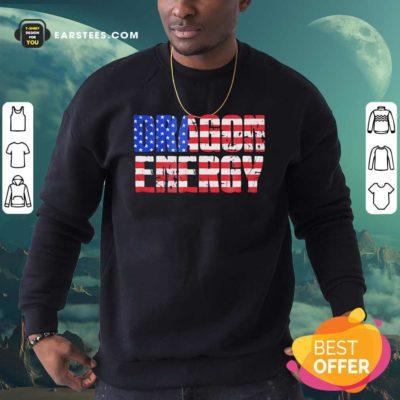Dragon Energy American Flag Sweatshirt - Design By Earstees.com