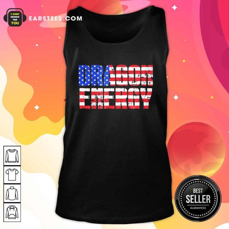 Dragon Energy American Flag Tank Top - Design By Earstees.com