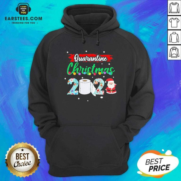 Merry Quarantine Christmas 2020 Pajamas Hoodie - Design By Earstees.com