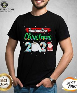 Merry Quarantine Christmas 2020 Pajamas T-Shirt - Design By Earstees.com
