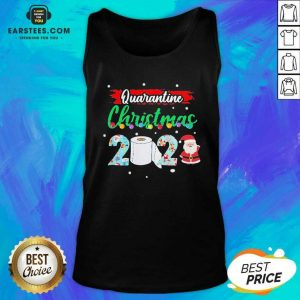 Merry Quarantine Christmas 2020 Pajamas Tank Top - Design By Earstees.com