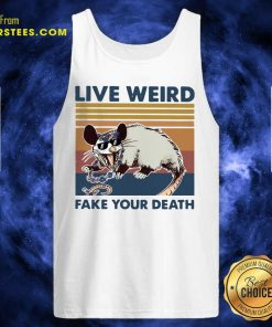 Opossum Live Weird Fake Your Death Tank Top - Design By Earstees.com