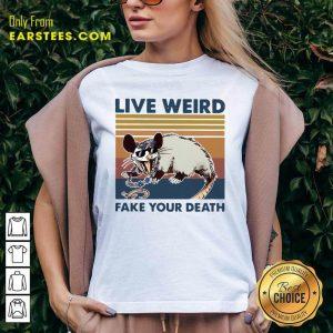 Opossum Live Weird Fake Your Death V-neck - Design By Earstees.com