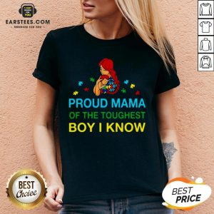 Good Proud Mama Of The Toughest Boy I Know Shirt - Design By Earstees.com
