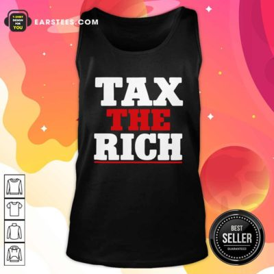 Tax The Rich Red White Tank Top - Design By Earstees.com
