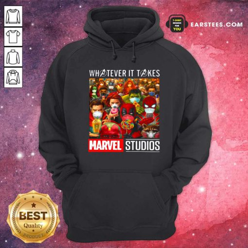 Whatever It Takes Marvel Studios Avengers Face Mask Hoodie- Design By Earstees.com