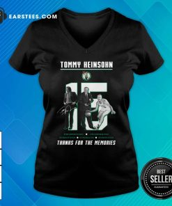 15 Tommy Heinsohn Thank For The Memories Signature V-neck - Design By Earstees.com