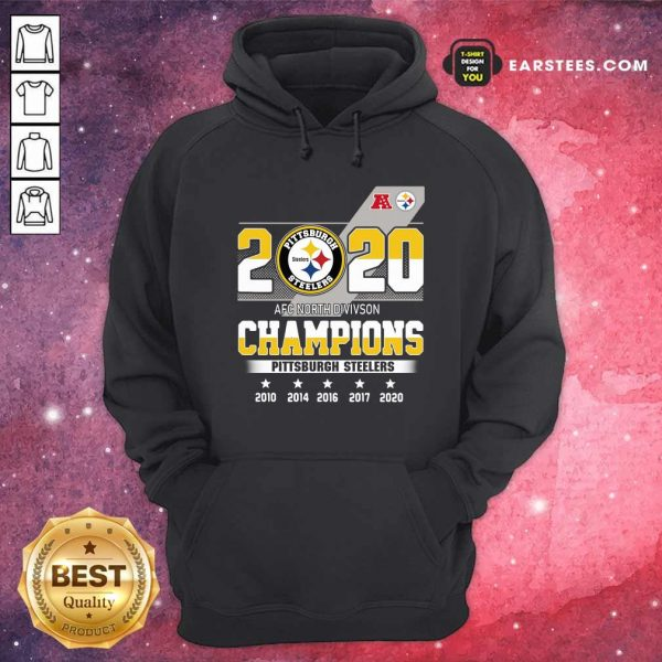 2020 AFC North Division Champions Pittsburgh Steelers Hoodie - Design By Earstees.com