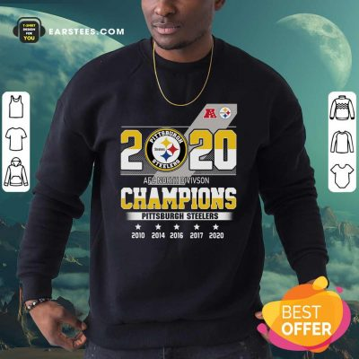 2020 AFC North Division Champions Pittsburgh Steelers Sweatshirt - Design By Earstees.com