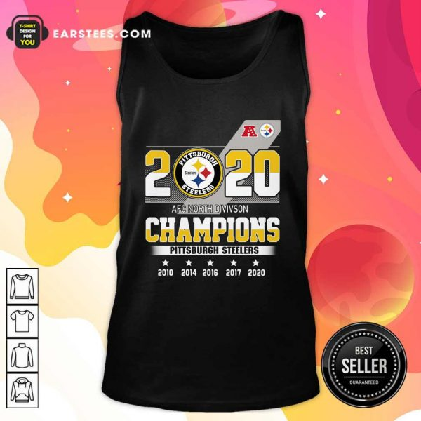 2020 AFC North Division Champions Pittsburgh Steelers Tank Top - Design By Earstees.com