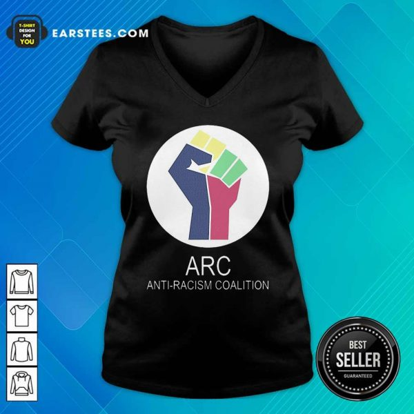 ARC Anti-racism Coalition V-neck - Design By Earstees.com
