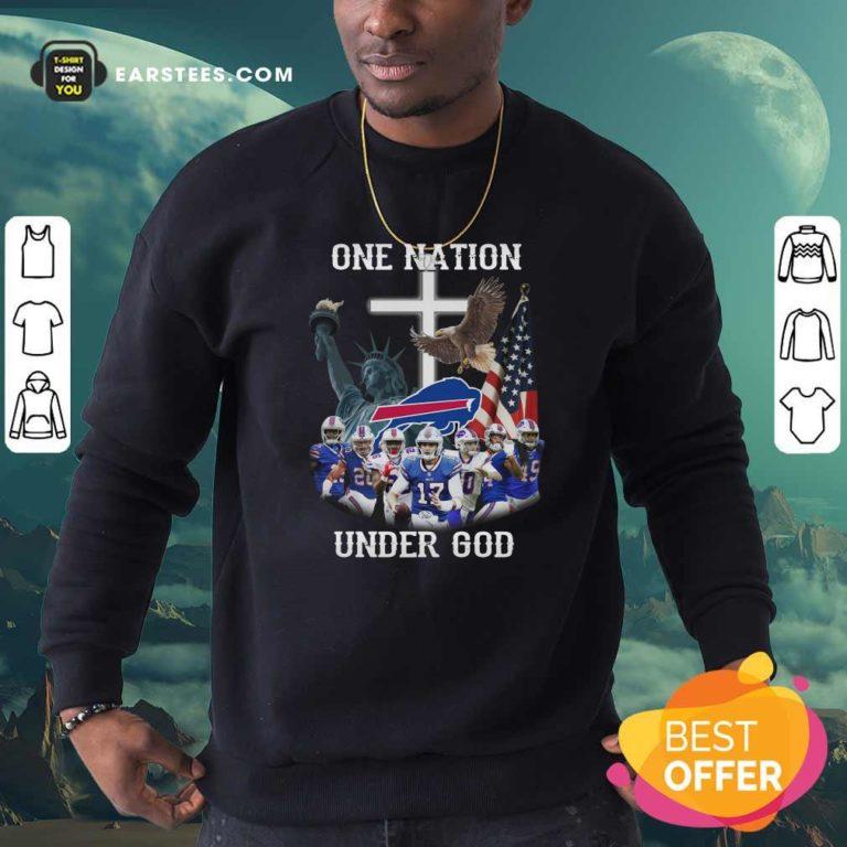 Buffalo Bills One Nation Under God American Flag Sweatshirt - Design By Earstees.com