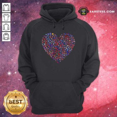 Heart Butterfly Hoodie - Design By Earstees.com
