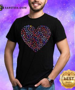 Heart Butterfly Shirt - Design By Earstees.com