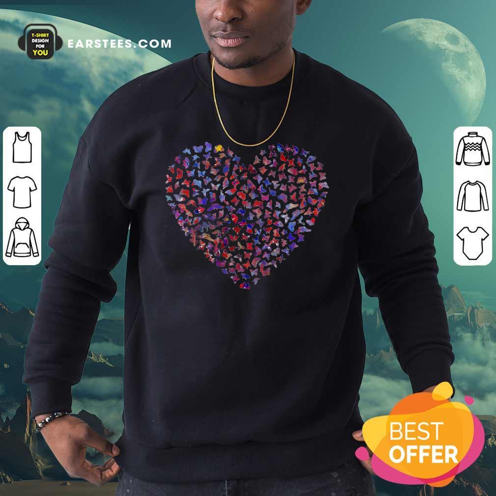 Heart Butterfly Sweatshirt - Design By Earstees.com