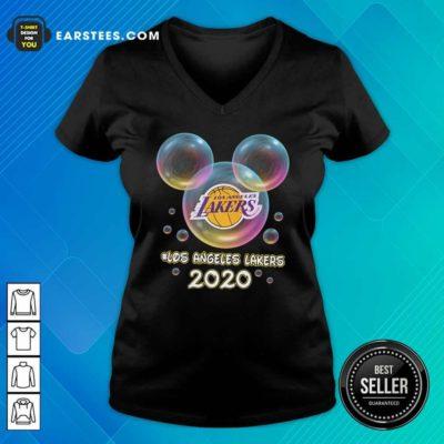 Los Angeles Lakers 2020 Mickey Disney V-neck - Design By Earstees.com