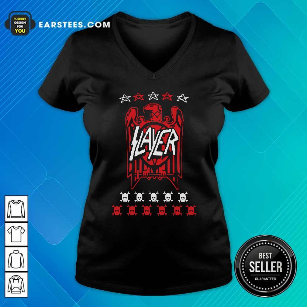 Slayer Eagle Skull V-neck - Design By Earstees.com
