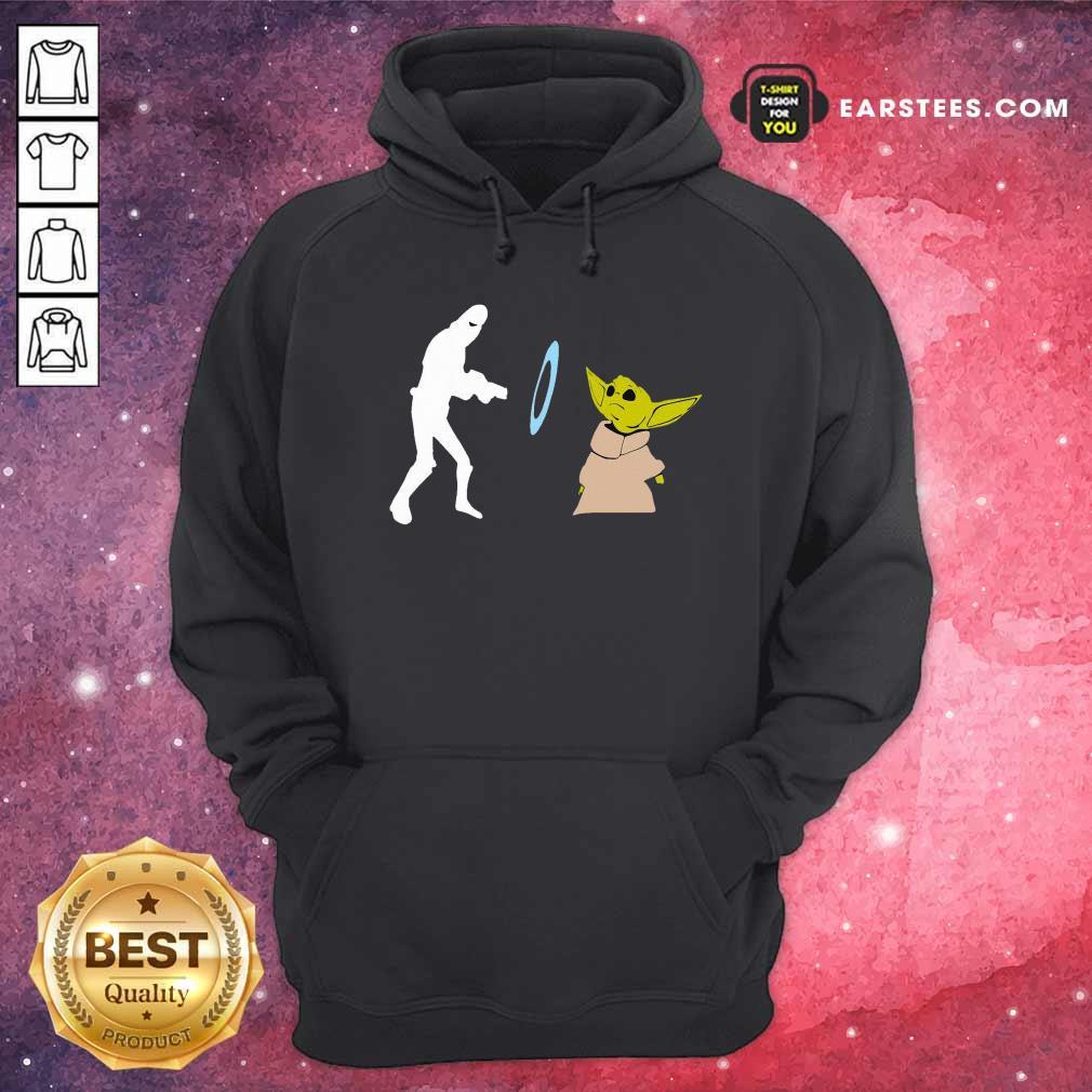 Baby Yoda Grogu Stunned Hoodie - Design By Earstees.com