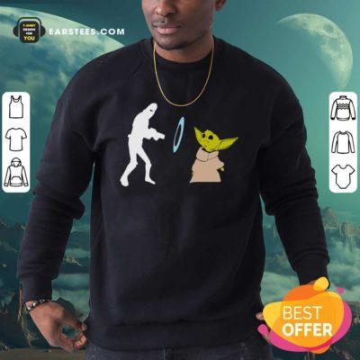 Baby Yoda Grogu Stunned Sweatshirt - Design By Earstees.com