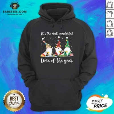 Hot Gnomes Light Its The Most Wonderful Time Of The Year Christmas Hoodie - Design By Earstees.com
