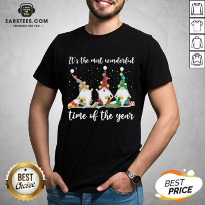Hot Gnomes Light Its The Most Wonderful Time Of The Year Christmas Shirt - Design By Earstees.com