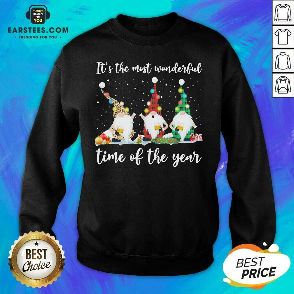 Hot Gnomes Light Its The Most Wonderful Time Of The Year Christmas Sweatshirt- Design By Earstees.com