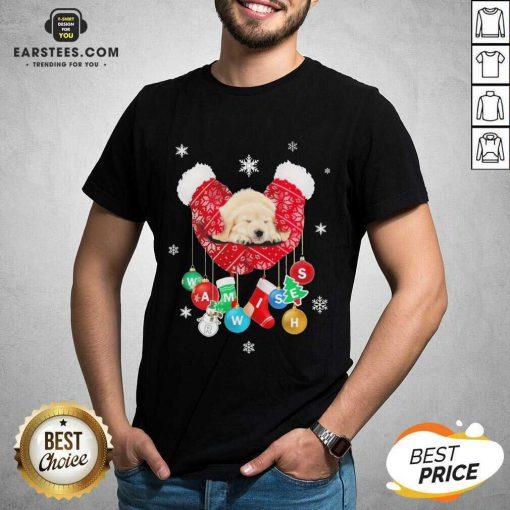 Hot Golden Retriever Warm Wishes Socks Christmas Shirt - Design By Earstees.com
