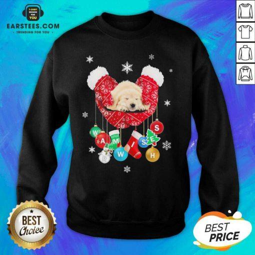 Hot Golden Retriever Warm Wishes Socks Christmas Sweatshirt - Design By Earstees.com