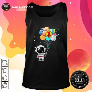 Happy 3rd Birthday Astronaut 3 Years Old Birthday Tank Top - Design By Earstees.com