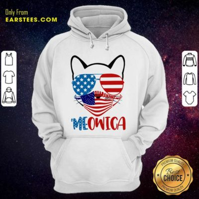 Meowica 4th Of July Merica Quarantine Hoodie - Design By Earstees.com