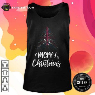 Merry Christmas English Tank Top - Design By Earstees.com