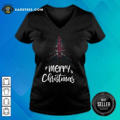 Merry Christmas English V-neck - Design By Earstees.com