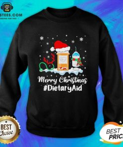 Nurse Santa Vaccine Merry Christmas #Dietary Aid Sweatshirt - Design By Earstees.com