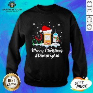 Nurse Santa Vaccine Merry Christmas #Dietary Aid Sweatshirt - Design By Earstees.com