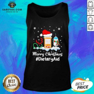 Nurse Santa Vaccine Merry Christmas #Dietary Aid Tank Top - Design By Earstees.com