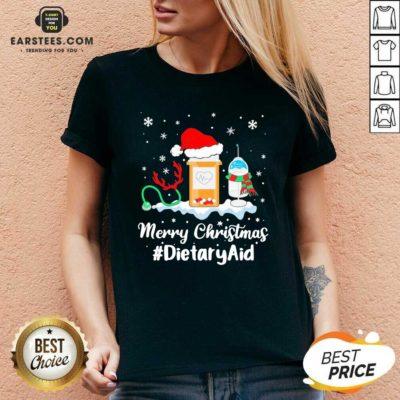 Nurse Santa Vaccine Merry Christmas #Dietary Aid V-neck - Design By Earstees.com