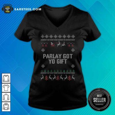 Parlet Got Yo Gift Ugly Christmas V-neck - Design By Earstees.com
