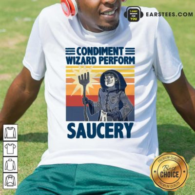 Vintage Condiment Wizard Perform Saucery Hoodie - Design By Earstees.com