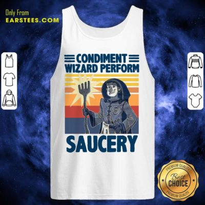 Vintage Condiment Wizard Perform Saucery Tank Top - Design By Earstees.com
