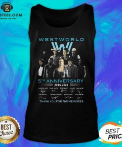 Hot West World 5th Anniversary 2016 2021 Evan Rachel Wood Thandie Newton Jeffrey Wright Thank You For The Memories S Tank Top - Design By Earstees.com