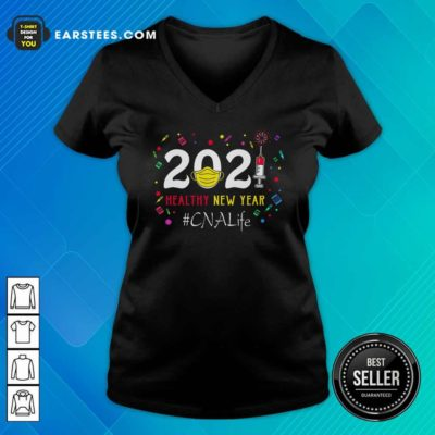 2020 Mask Vaccine Healthy New Year Cna Life V-neck - Design By Earstees.com