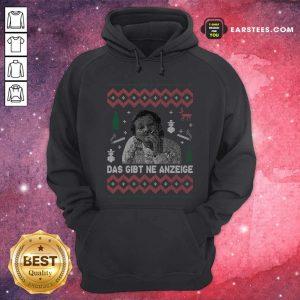Das Gibt Ne Anzeige Ugly Christmas Hoodie - Design By Earstees.com