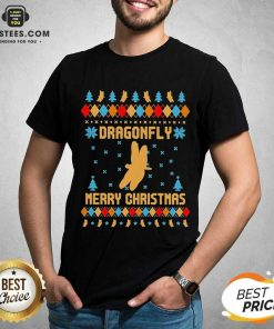 Nice Dragonfly Merry Ugly Christmas Shirt - Design By Earstees.com