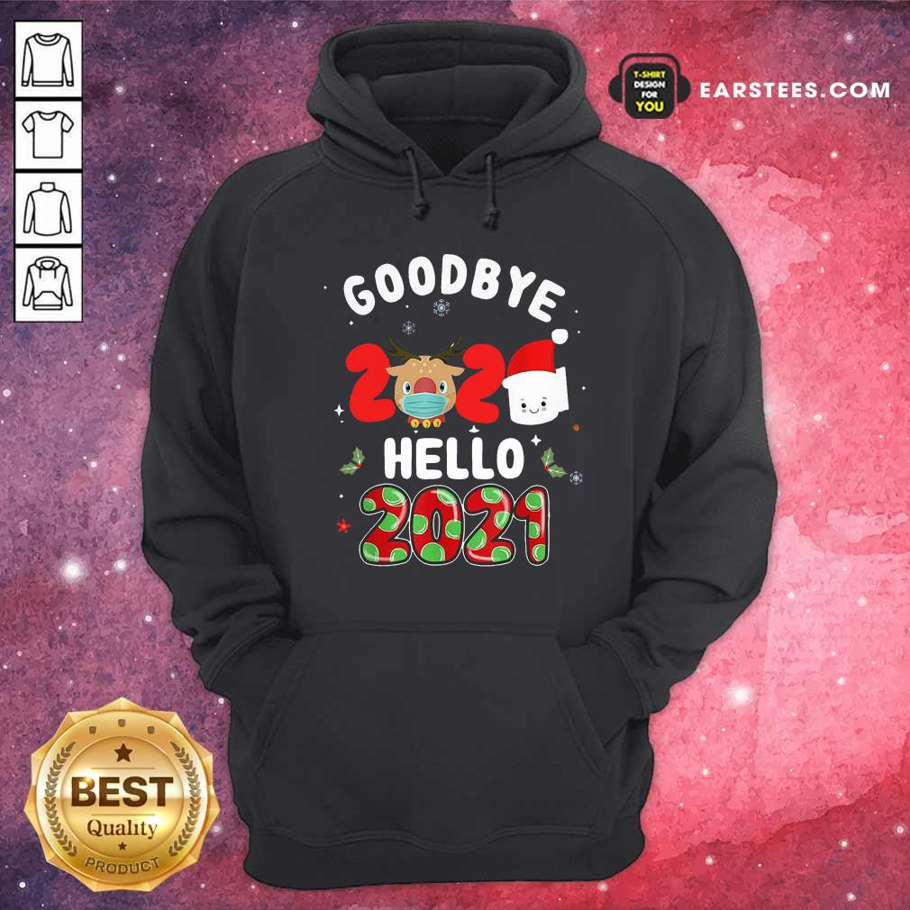 Goodbye 2020 Toilet Paper Santa Hello 2021 Hoodie - Design By Earstees.com