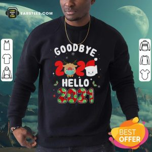 Goodbye 2020 Toilet Paper Santa Hello 2021 Sweatshirt - Design By Earstees.com