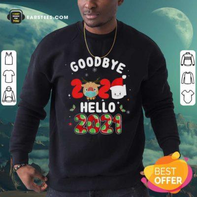 Goodbye 2020 Toilet Paper Santa Hello 2021 Sweatshirt - Design By Earstees.com