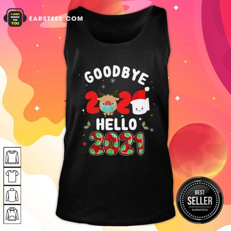 Goodbye 2020 Toilet Paper Santa Hello 2021 Tank Top - Design By Earstees.com